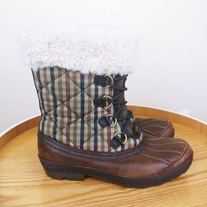 UGG Brown Quilted Newberry Boots